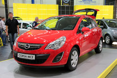 Red Opel Corsa MCE Stock Photo
