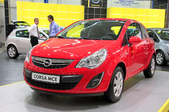 Red Opel Corsa MCE Stock Photography