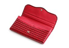 Red Open Change Purse Royalty Free Stock Photo