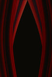 Red Open Curtains Royalty Free Stock Image