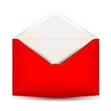 Red open envelope Royalty Free Stock Photo