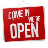 Red Open sign. Creative design Stock Photo