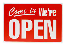 Red Open Sign stock image