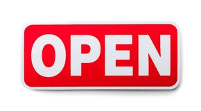 Red Open Sign stock photography