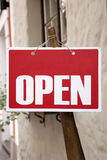 Red Open Sign Royalty Free Stock Images