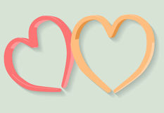 Red and orange abstract hearts Stock Photos