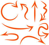 Red and orange arrows Royalty Free Stock Image