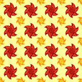 Red and orange autumn flowers seamless pattern background Royalty Free Stock Photo