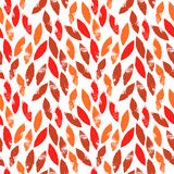 Red and orange autumn leaves grunge seamless pattern, vector. Background Royalty Free Stock Photography