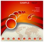 Red-orange background with world map Stock Image