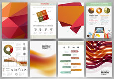 Red and orange backgrounds and abstract concept infographics Stock Photo
