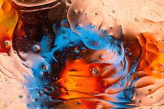 Red, orange, black, blue, yellow colorful abstract design, texture. Beautiful backgrounds. stock photos