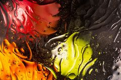 Red, orange,black, yellow colorful abstract design, texture. Beautiful backgrounds. Beautiful close up view red, orange,black, yellow colorful abstract design stock photo