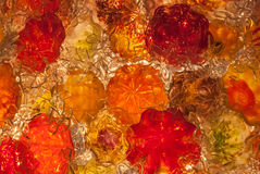 Red and Orange Blown Glass Royalty Free Stock Image