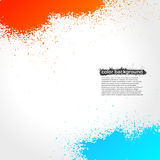 Red, Orange And Blue Splatter Paint Grunge Bright. Background. Vector Illustration royalty free illustration
