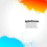 Red, Orange And Blue Splatter Paint Grunge Bright. Background. Vector Illustration vector illustration