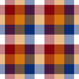 Red orange blue white check seamless pattern Stock Images