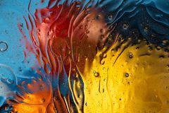 Red, orange, blue, yellow colorful abstract design, texture. Beautiful backgrounds. Beautiful close up view red, orange, blue, yellow colorful abstract design royalty free stock photo