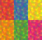Red, orange, blue, yellow, magenta and green background of squares Royalty Free Stock Photography