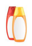 Red and orange bottle isolated Royalty Free Stock Images