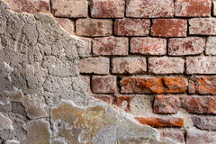 Red-orange brick wall 14 Royalty Free Stock Image