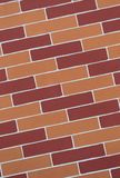 Red and orange brick wall pattern Stock Photography