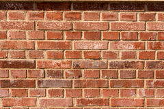 Red-orange brick wall with shadows Stock Photo