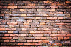 Red-orange brick wall with vignetting Royalty Free Stock Images