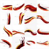 Red orange bright feather lines concept Royalty Free Stock Image
