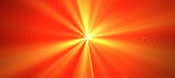 Red orange bright flash of light. Motion blur. Staburst. Sunburst. Abstract festive illustration with glowing blurred lights stock illustration