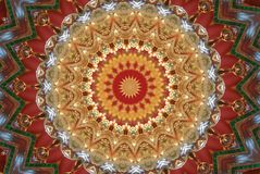 red with orange bright ornament Stock Photography