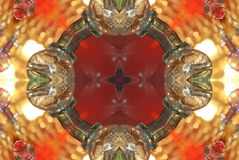 red with orange bright ornament Royalty Free Stock Image