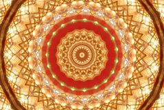 red with orange bright ornament Stock Images