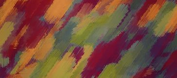 Red orange brown and green painting Royalty Free Stock Photo
