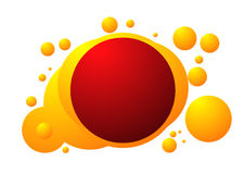 Red and orange bubble background pattern Royalty Free Stock Photos