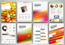 Red and orange business backgrounds and abstract concept infogra Royalty Free Stock Photos