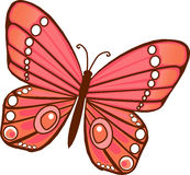 Red orange Butterfly. Red and Orange Illustrated Butterfly vector illustration