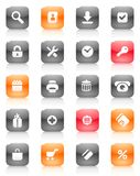 Red and orange buttons for internet Royalty Free Stock Images