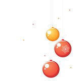 Red and orange Christmas balls Stock Image