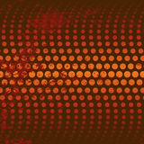 Red/Orange Circle Background. With Grunge Royalty Free Stock Images
