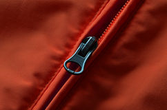 Red and Orange Coat Zipper Royalty Free Stock Photography
