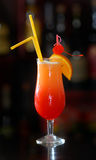 It is red - an orange cocktail Royalty Free Stock Image