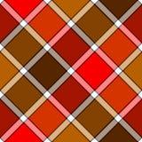 Red orange color diagonal check plaid seamless pattern. Vector illustration. Flat design. EPS10 stock illustration
