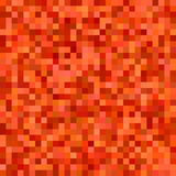 Red orange color square mosaic vector background Royalty Free Stock Photo