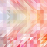 Red and orange colored triangular pattern background Stock Photography