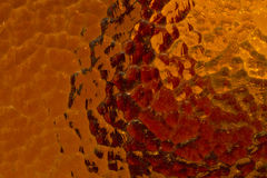 Red and orange corrugated glass Royalty Free Stock Photography