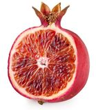 Red orange cut ripe pomegranate. Royalty Free Stock Photos