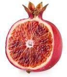 Red orange cut ripe pomegranate. Royalty Free Stock Photos