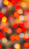 Red and orange defocussed lights. Red, white and orange defocussed lights Stock Photo