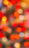Red and orange defocussed lights Stock Photo